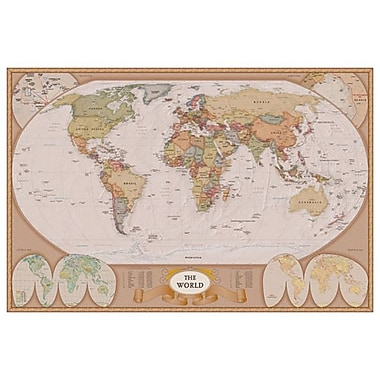 Map of the World, Stretched Canvas, 24