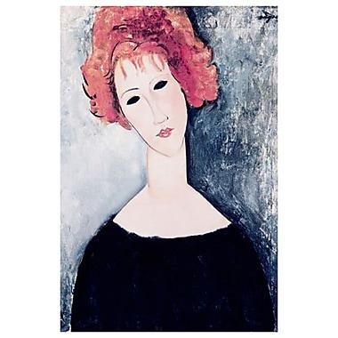 Femme aux cheveux roux par Modigliani, toile, 24 x 36 po