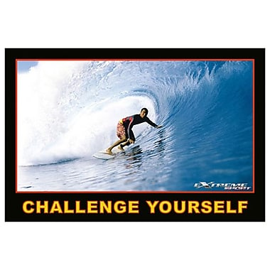 Surfing Challenge Yourself, Stretched Canvas, 24