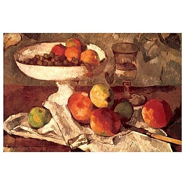 Still Life by Cezanne, Canvas, 24