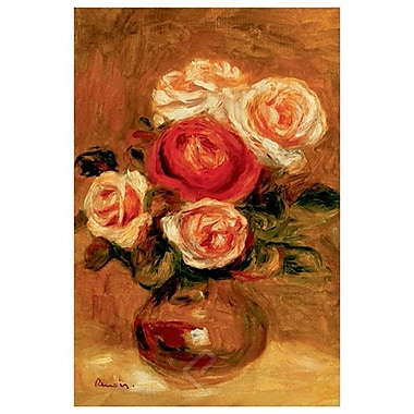 Roses in a Vase by Renoir, Flowers, Canvas, 24