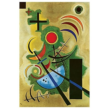 Solid Green by Kandinsky, Canvas, 24