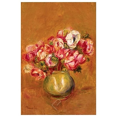 Large Anemones by Renoir, Canvas, 24