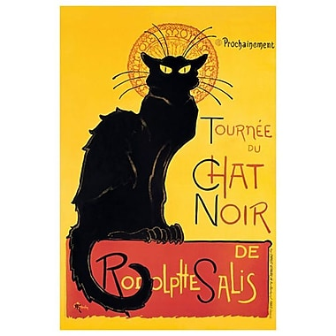Chat Noir by Steinlen, Canvas, 24