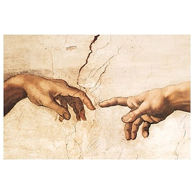 Creation detail by Michelangelo, Canvas, 24