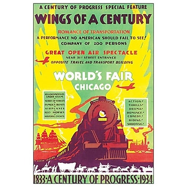 World's Fair Chicago, toile tendue, 24 x 36 po