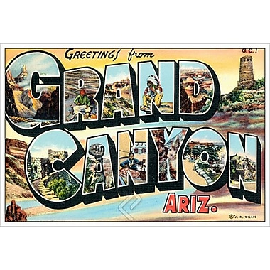 Greetings from Grand Canyon, toile tendue, 24 x 36 po