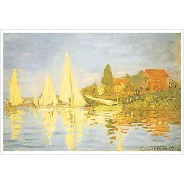 Régates à Argenteuil de Monet, toile, 24 x 36 po