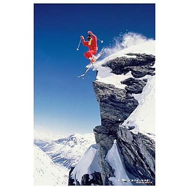 Extreme Sport Skiing, Stretched Canvas, 24