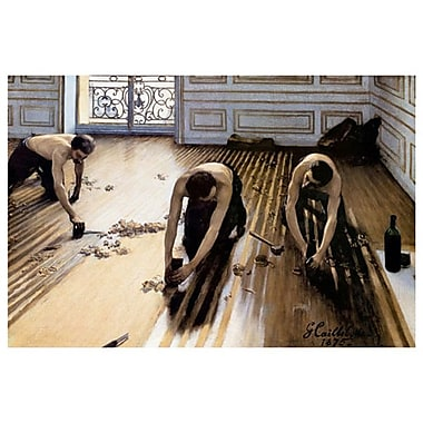 Wood Floor Planers by Caillebotte, Canvas, 24