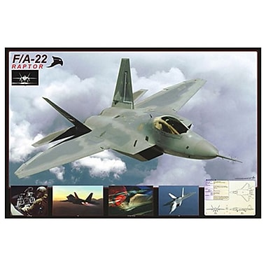 Avion F/A-22 Raptor, toile tendue, 24 x 36 po
