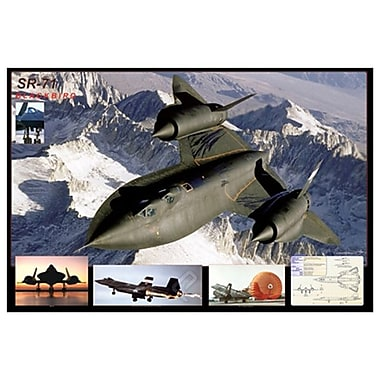 Airplane SR-71 Blackbird, Stretched Canvas, 24