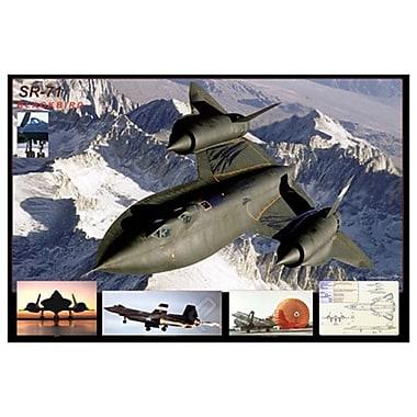 Avion SR-71 Blackbird, toile tendue, 24 x 36 po