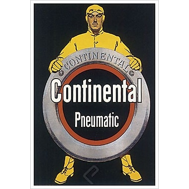 Continental Pneumatic, Stretched Canvas, 24