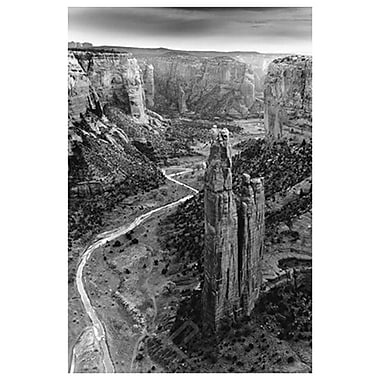 Aerial View of Chelly Canyon, Stretched Canvas, 24