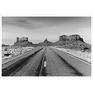 Route vers Monument Valley, Arizona, toile tendue, 24 x 36 po