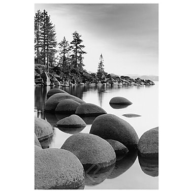 Shoreline- Lake Tahoe- CA, Stretched Canvas, 24