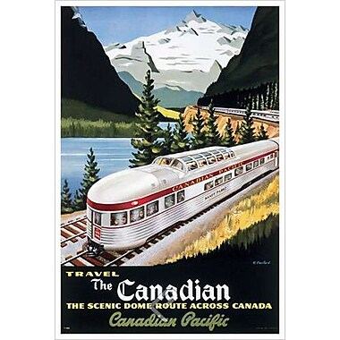 Canadian Pacific The Scenic Dome de Couillard, toile, 24 x 36 po
