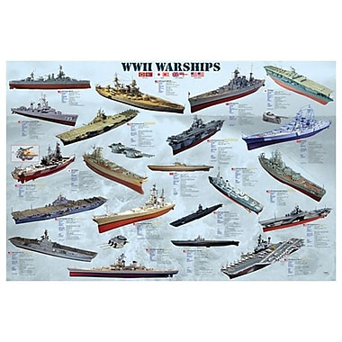 World War II War Ships, Stretched Canvas, 24