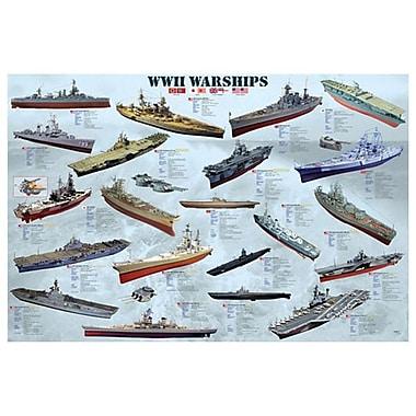 World War II War Ships, Stretched Canvas, 24