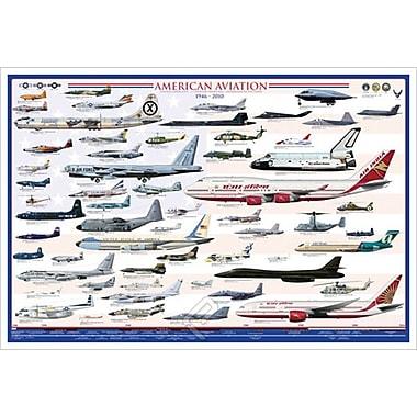 L'ère moderne de l'aviation américaine, toile, 24 x 36 po