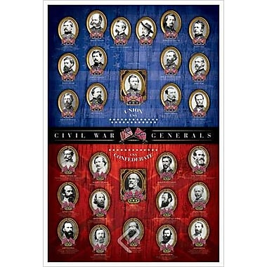 Civil War Generals, Stretched Canvas, 24