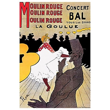 Moulin Rouge by Toulouse-Lautrec, Canvas, 24