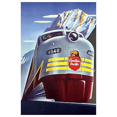 Canadian Pacific Diesel 4040, toile tendue, 24 x 36 po