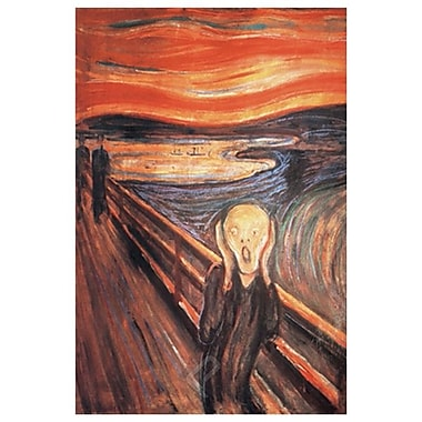 The Scream by Munch, Canvas, 24