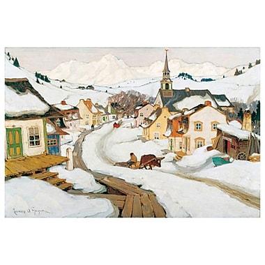 Village des Laurentides de Gagnon, toile, 24 x 36 po