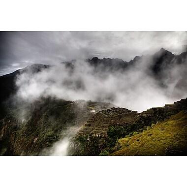 Machu Picchu Fog by Nalbandian, Landscape, Canvas, 24