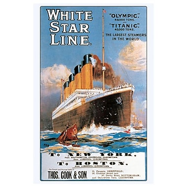 White Star Line, toile tendue, 24 x 36 po