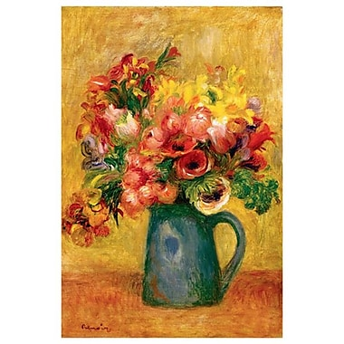 Pitcher of Flowers by Renoir, Canvas, 24