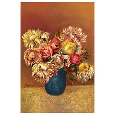 Chrysanthèmes de Renoir, toile, 24 x 36 po