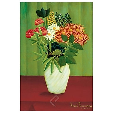 Flowers Green by Rousseau, Canvas, 24