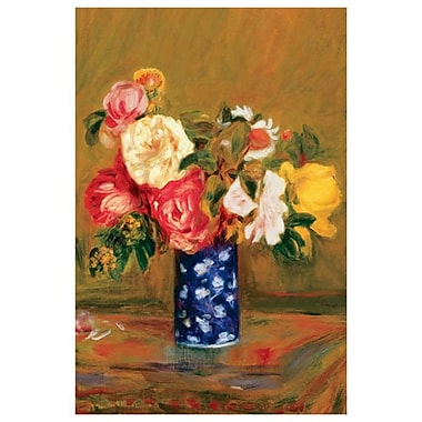 Roses in a Vase by Renoir, Canvas, 24