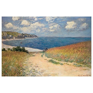 Chemin Bles Pourville by Monet, Canvas, 24