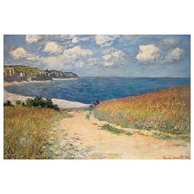 Chemin dans les Blés à Pourville par Monet, toile, 24 x 36 po