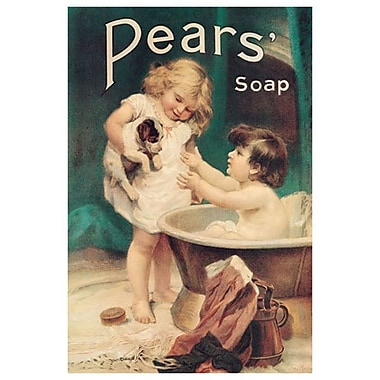 Pears Soap Bathtub, Stretched Canvas, 24