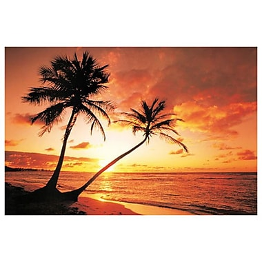 Tropical Beach Sunset, Stretched Canvas, 24