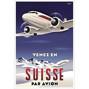 Suisse par Avion by Crampton, Canvas, 24