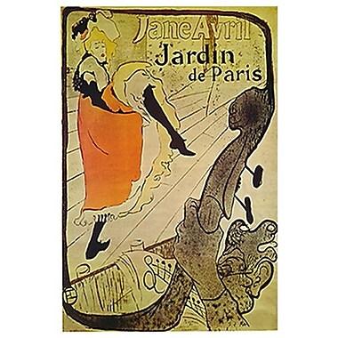 Jane Avril par Toulouse-Lautrec, toile, 24 x 36 po