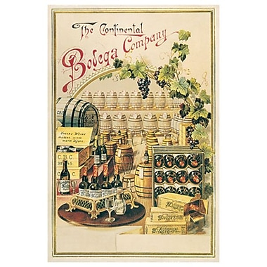 The Continental Bodega Company, toile tendue, 24 x 36 po