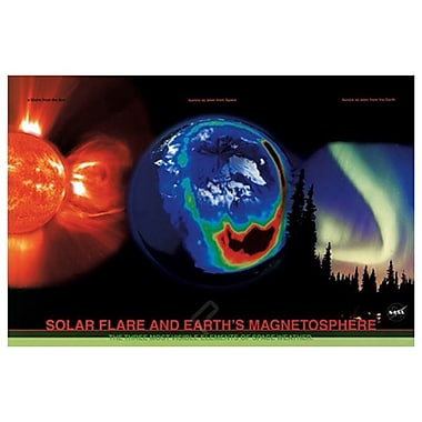 NASA SolarFlare EarthMagnetos, Stretched Canvas, 24