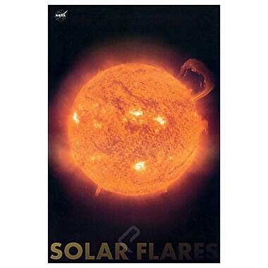 Éruptions solaires, toile tendue, 24 x 36 po