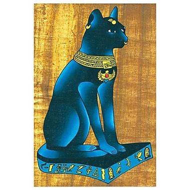 La déesse Bastet, toile tendue, 24 x 36 po