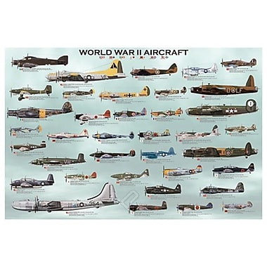 World War II Aircrafts, Stretched Canvas, 24