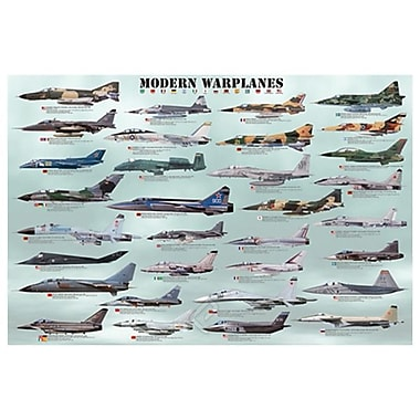 Modern Warplanes, Military Aircrafts, Stretched Canvas, 24