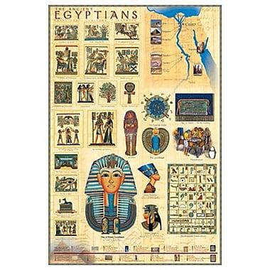 Les Égyptiens, toile tendue, 24 x 36 po