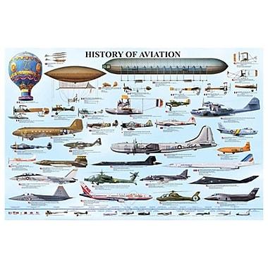 Histoire de l'aviation, toile tendue, 24 x 36 po